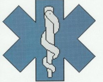 EMT / Paramedic Logo Cross Stitch Pattern counted