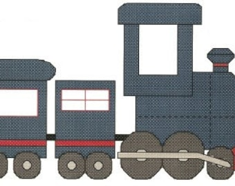 Steam Train counted Cross Stitch Pattern Instant Digital Download