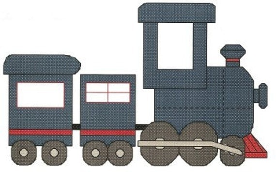Steam Train counted Cross Stitch Pattern