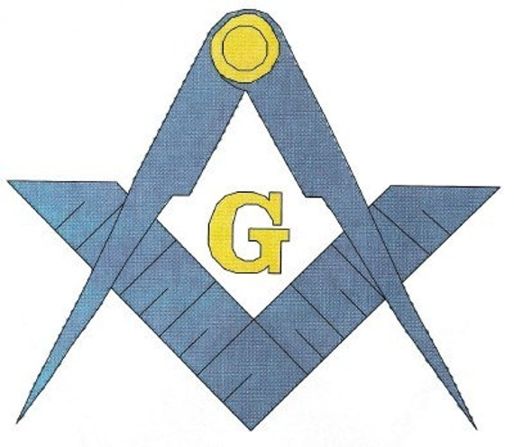 Masonic Logo counted Cross Stitch Pattern