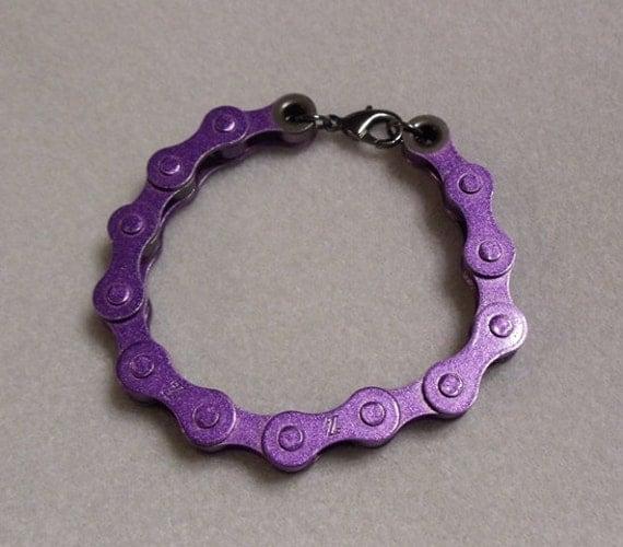 Women's Purple Bike Chain Bracelet