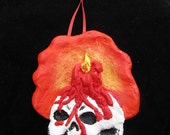 Skull and Candle Halloween/Christmas Ornament