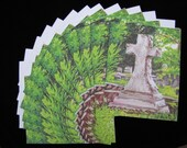 Large Cross in Decatur Cemetery 12pc Blank Note Card Set with Envelopes