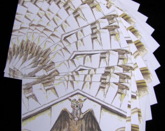 Oakland Cemetery Gargoyle 12 pc Blank Note Card Set w/ Envelopes