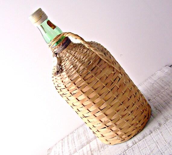 Vintage Bacardi Rum Demijohn Bottle