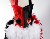 LAST ONE : 2XL Queen of Hearts Burlesque Alice in Wonderland Feather  Corset Costume Fantasy Fairy Sexy Adult Women's