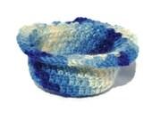 SALE- Blue Skies Ahead Crochet Vintage Yarn bowl