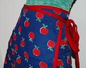Vintage Skirt Full Wrap Apples