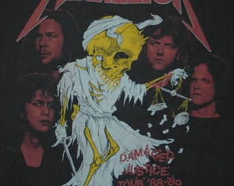 Vintage Metallica '88-'89 Tour Tshirt