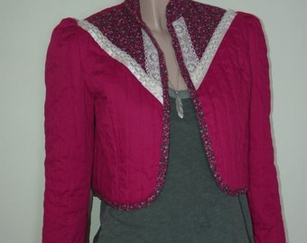 Vintage Jacket Quilted Cropped and Prairie