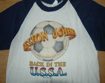 Vintage Elton John T Shirt 1979 Back in the USSA Tour