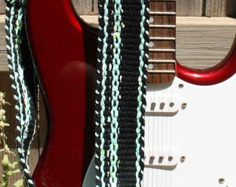 american flag inspired guitar strap red white by 2horseweaving. Black Bedroom Furniture Sets. Home Design Ideas