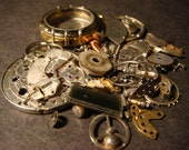 Steampunk Supplies - Watch Wheels,Gears and MORE - Antique Watch Parts for Jewelry, Altered Art, Assemlage, Scrapbooking--Lot 2