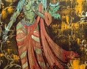 "Beauty is Skin Deep -  Thangka fine art oil painting in print 18""X24"""