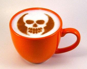 Cappuccino Stencil - Baking Stencil - Coffee Stencil - Skull