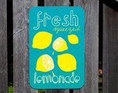 Fresh Squeezed Lemonade Aluminum Outdoor Sign