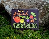 "Farm Fresh Vegetables - Chocolate - 12"" X 9"""