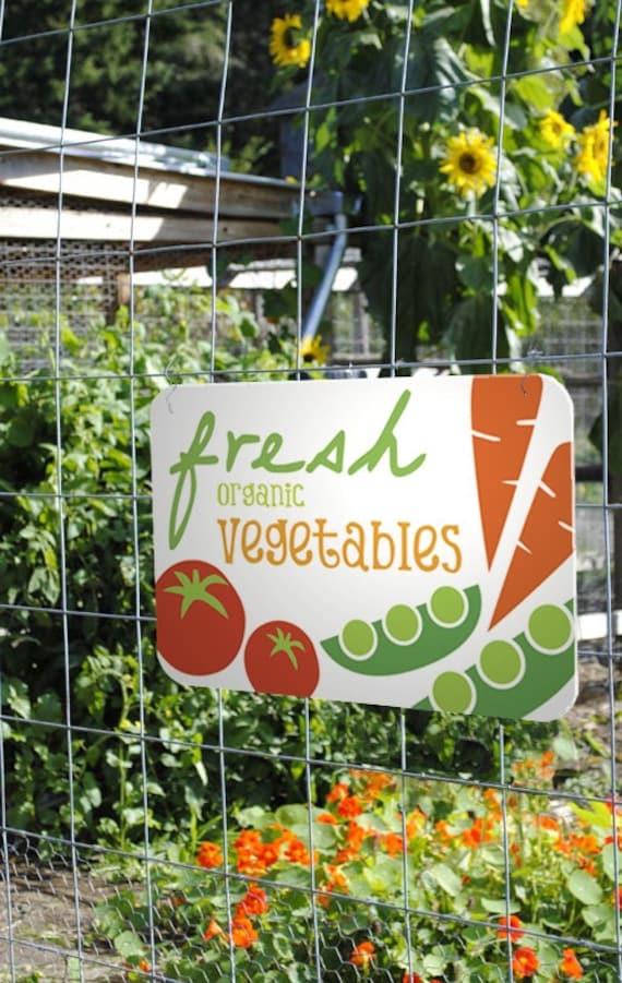 Items Similar To Fresh Organic Vegetables Aluminum Garden