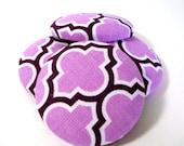 Button Fabric Covered 1.5 inch Quatrefoil Purple