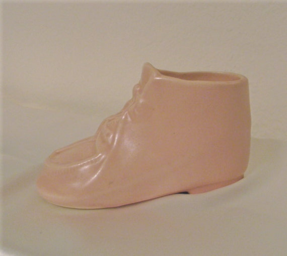 Vintage Pink Baby Shoe Planter Vase, Baby Girl, Ceramic, Baby Shower, Mom to Be, Newborn, Nursery