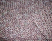 Hugs to Go Hearts Knitted Baby Afghan Blanket - Raspberry Pink