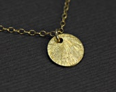 Tiny Disc Necklace Brushed 24k Gold Vermeil Tiny Dot Necklace, Everyday Jewelry, Wedding Jewelry, Modern Layering Necklace,Couple Jewelry