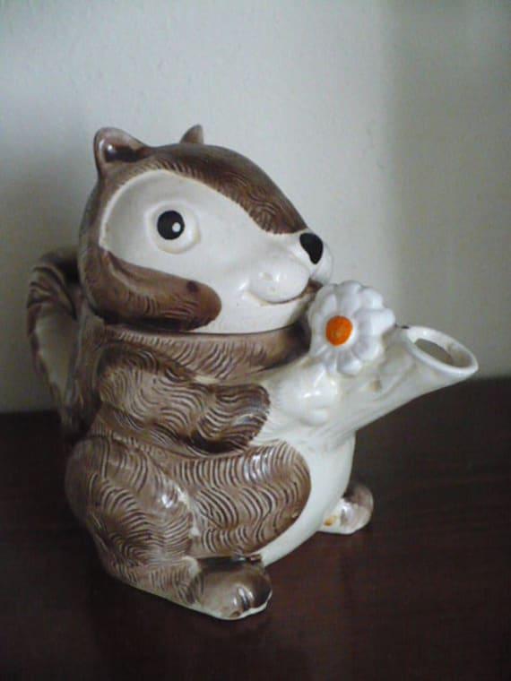 Retro squirrel teapot