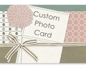 RESERVED - Irihana April BNR Prize (Custom Shop Promo Card / Photo Card / Invitation - Printable Digital File Only)