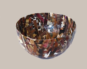 Recycled Magazines Bowl, Cup - Made from Recycled Magazines