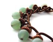 RESERVED - Jade Bracelet in Copper