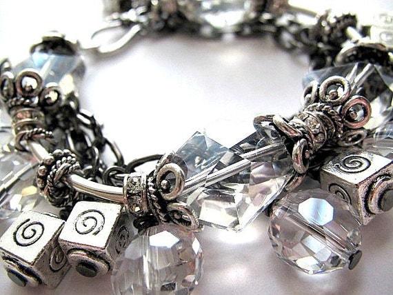 Crystal Quartz Triple Strand Bracelet