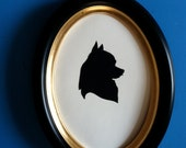 Framed Pet Silhouette - 10% of sale will be donated to the Animal Rescue League of Southern Rhode Island