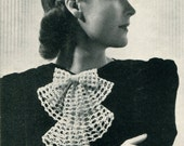 Women's Vintage Crocheted Jabot -- PDF CROCHET PATTERN