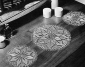 Old-Fashioned Knitted Doilies -- Flower Mats -- PDF KNITTING PATTERN
