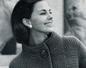 Women's Vintage High-collared Topper -- PDF KNITTING PATTERN