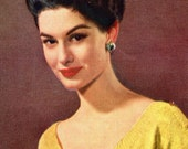 Women's 1950s Vintage Scoop Neck Blouse -- PDF KNITTING PATTERN