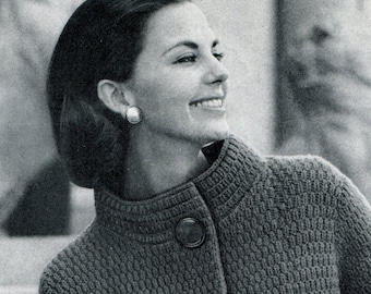 Women's Vintage High-collared Topper -- PDF KNITTING PATTERN