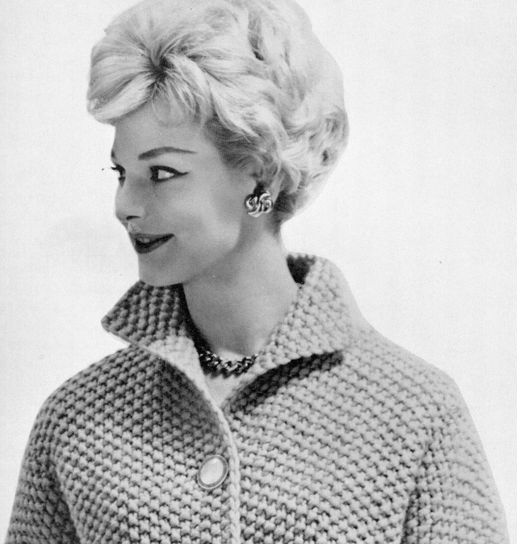 Womens Bulky-knit Cropped Seed-Stitch Jacket PDF