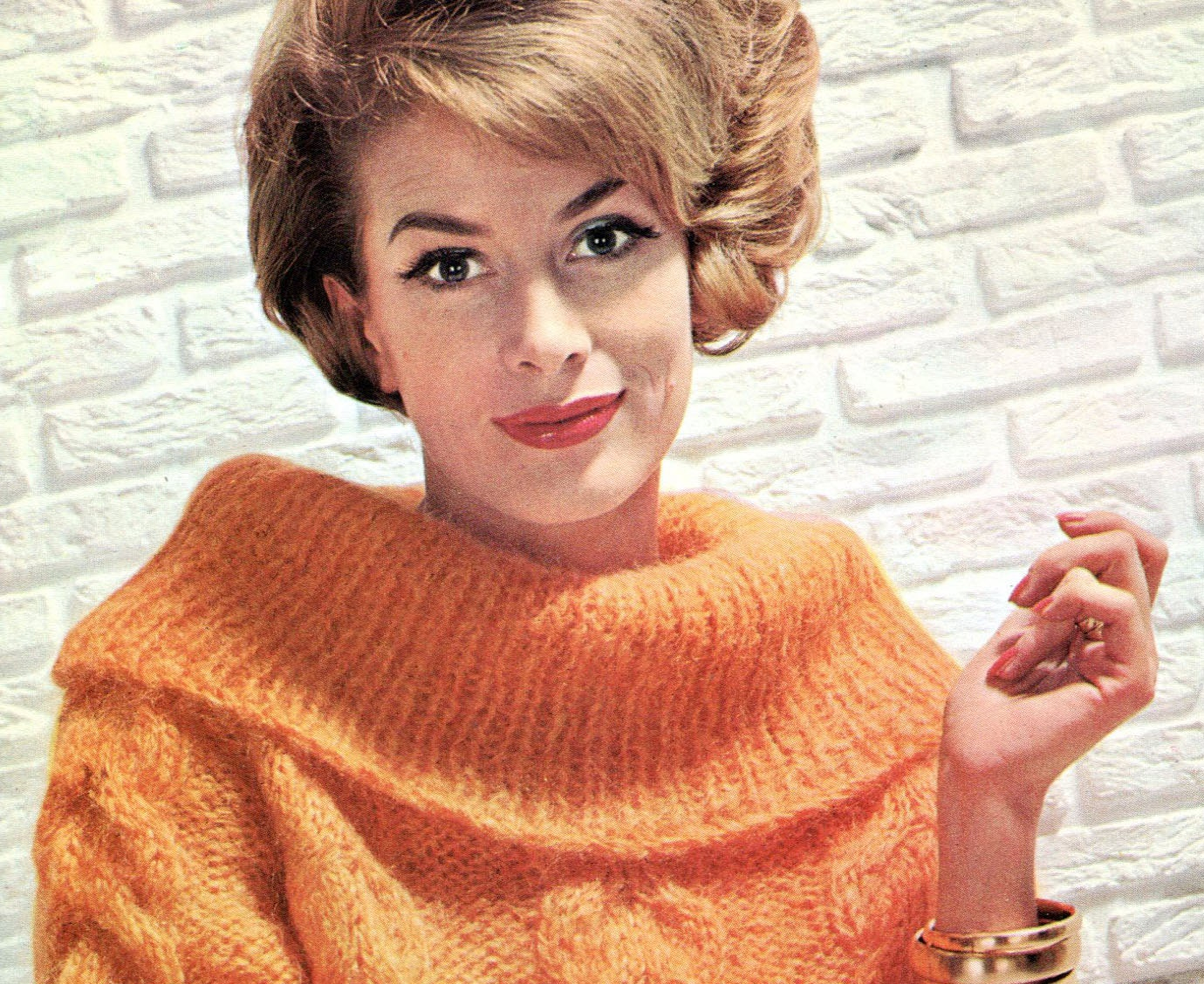 Cowl Neck Hoodie Knitting Pattern : Ladies 1960s Retro Cowl-neck Pullover PDF KNITTING