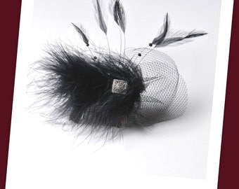 Marabou feather haircomb