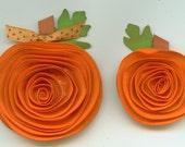 Spiral Orange Paper Pumpkins Embellishments Use for Halloween or Thanksgiving