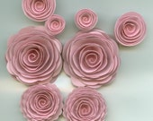 Baby Girl Pink Spiral Rose Paper Flowers