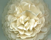 Giant Sand Ivory Carnation Paper Flower for Weddings, Bouquets, Events and Crafts