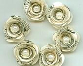Pearl Music Sheet Handmade Tiny Mini Roses Spiral Paper Flowers