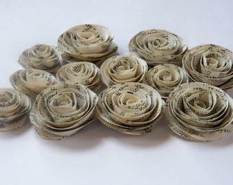 Bookprint Handmade Spiral Paper Flowers
