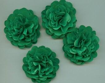 Grass Green Carnation Paper Flowers