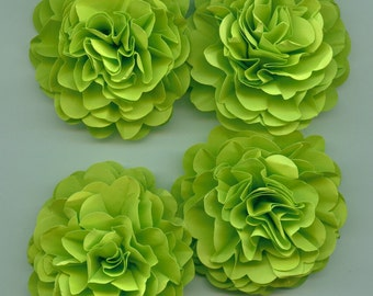 Lime Green Carnation Paper Flower Embellishments