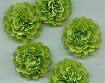 Green Apple Mini Carnation Paper Flower Embellishments