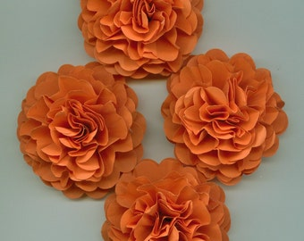 Pumpkin Orange Carnation Paper Flowers Autumn, Fall, Thanksgiving