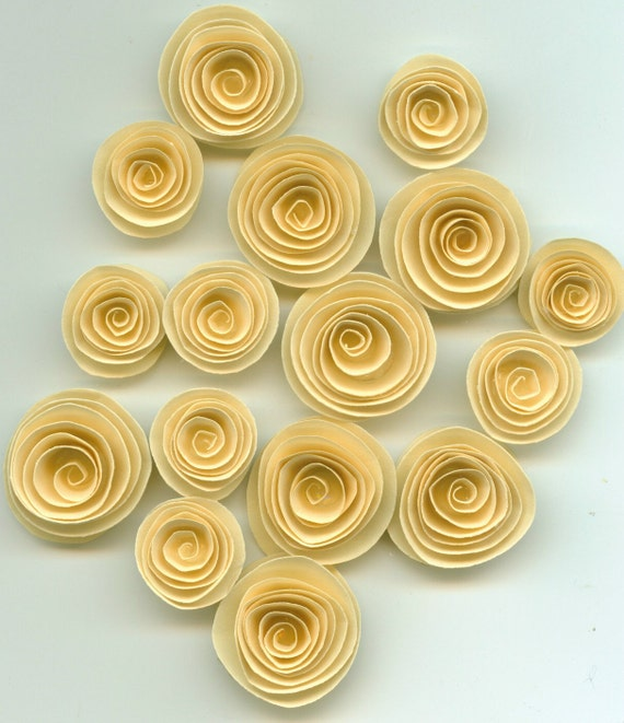Naples Cream Spiral Paper Flowers
